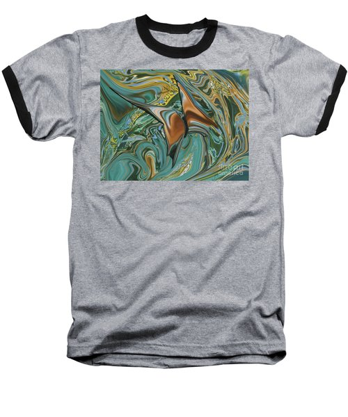 Bronze Butterfly Baseball T-Shirt