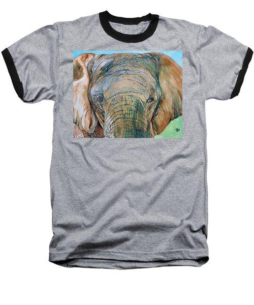 Bronze Elephant Baseball T-Shirt