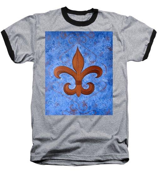 Bronze Fleur De Lis Baseball T-Shirt