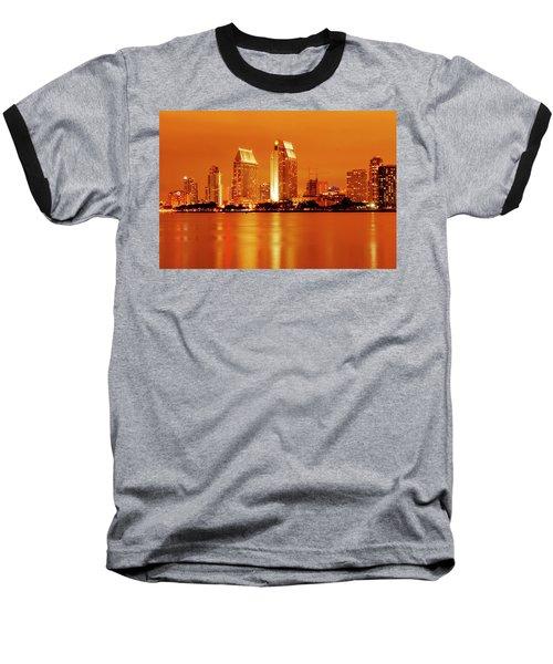 Bronze San Diego Skyline Baseball T-Shirt