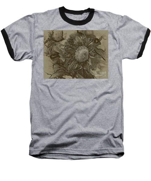 Bronzed Out Sunflower Baseball T-Shirt