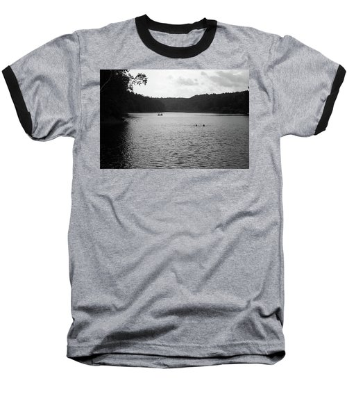 Baseball T-Shirt featuring the photograph Brookfield, Vt - Swimming Hole Bw 2 by Frank Romeo
