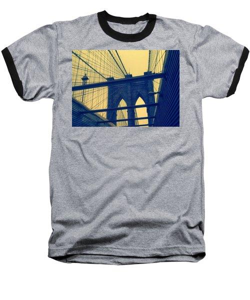 New York City's Famous Brooklyn Bridge Baseball T-Shirt by Paulo Guimaraes