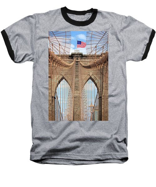 Baseball T-Shirt featuring the photograph Brooklyn Bridge 2  by Emmanuel Panagiotakis