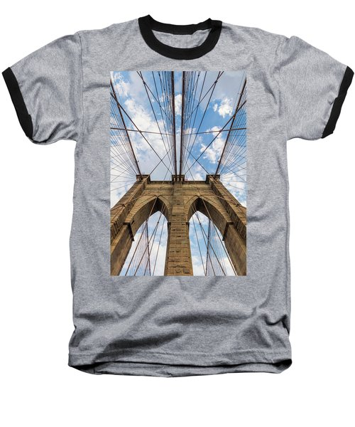 Baseball T-Shirt featuring the photograph Brooklyn Bridge 3 by Emmanuel Panagiotakis