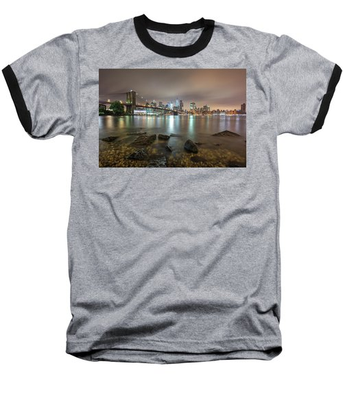 Baseball T-Shirt featuring the photograph Brooklyn Bridge At Sunrise  by Emmanuel Panagiotakis