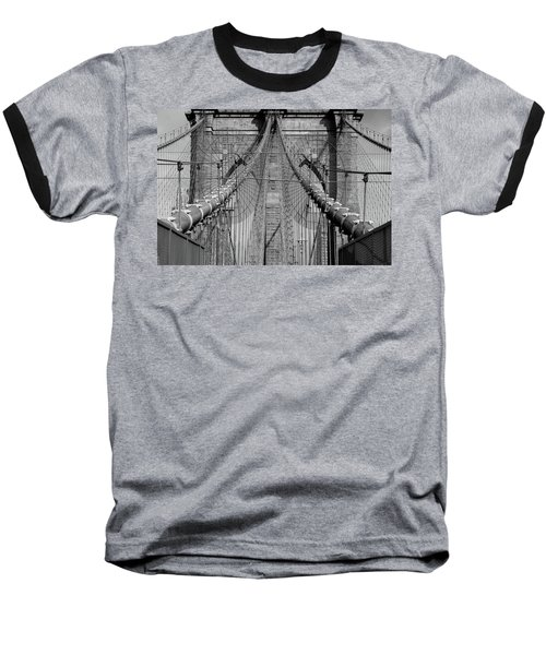 Baseball T-Shirt featuring the photograph Brooklyn Bridge by Emmanuel Panagiotakis