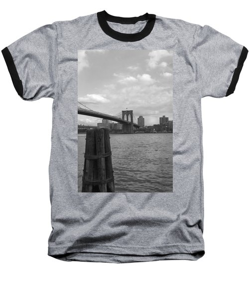 Brooklyn Bridge  Baseball T-Shirt by Henri Irizarri
