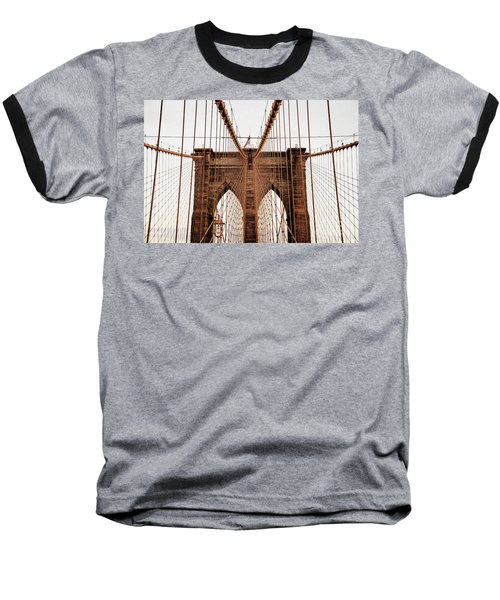 Baseball T-Shirt featuring the photograph Brooklyn Bridge by MGL Meiklejohn Graphics Licensing
