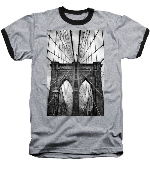 Brooklyn Bridge Mood Baseball T-Shirt