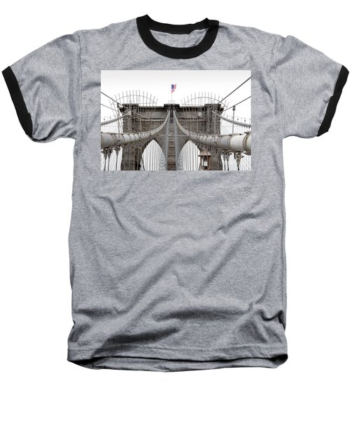 Brooklyn Bridge Top Baseball T-Shirt