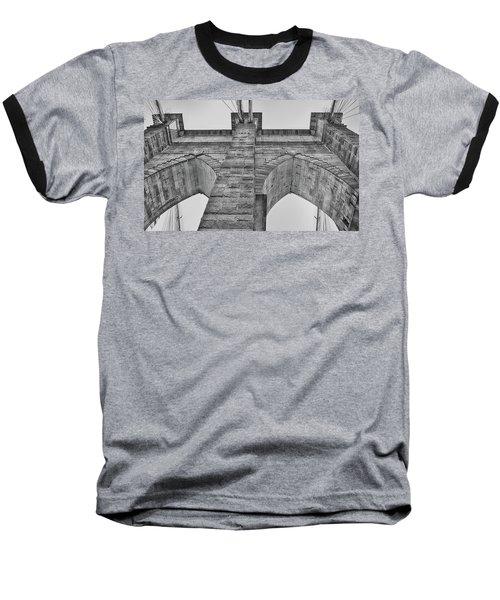 Brooklyn Bridge Tower Baseball T-Shirt