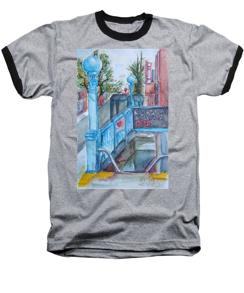Brooklyn Subway Stop Baseball T-Shirt