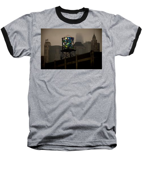Baseball T-Shirt featuring the photograph Brooklyn Water Tower by Chris Lord
