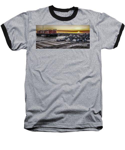 Brooklyn Waterfront Sunset Baseball T-Shirt
