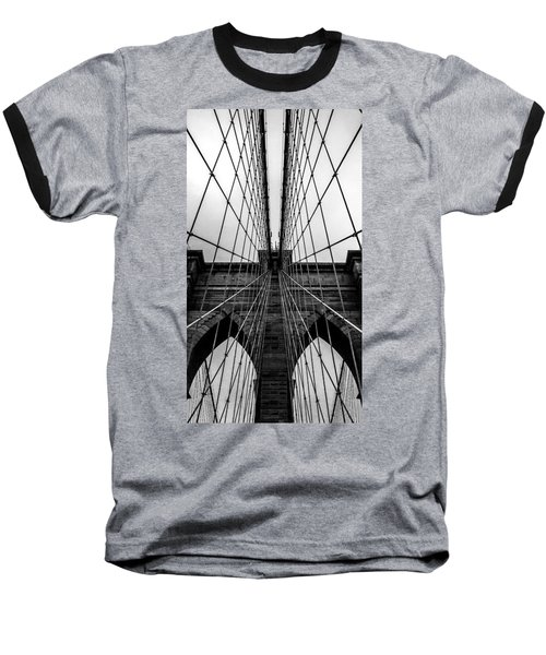 Brooklyn's Web Baseball T-Shirt by Az Jackson