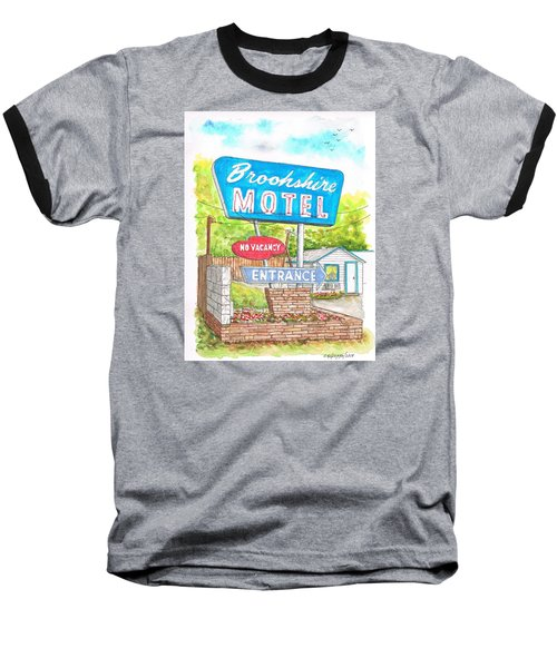 Brookshire Motel In Route 66, Tulsa, Oklahoma Baseball T-Shirt