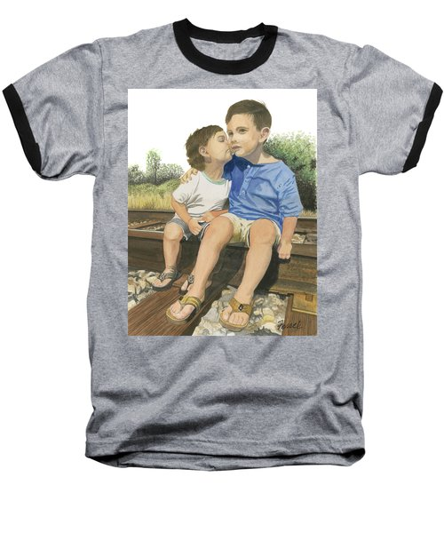 Brotherly Love Baseball T-Shirt by Ferrel Cordle
