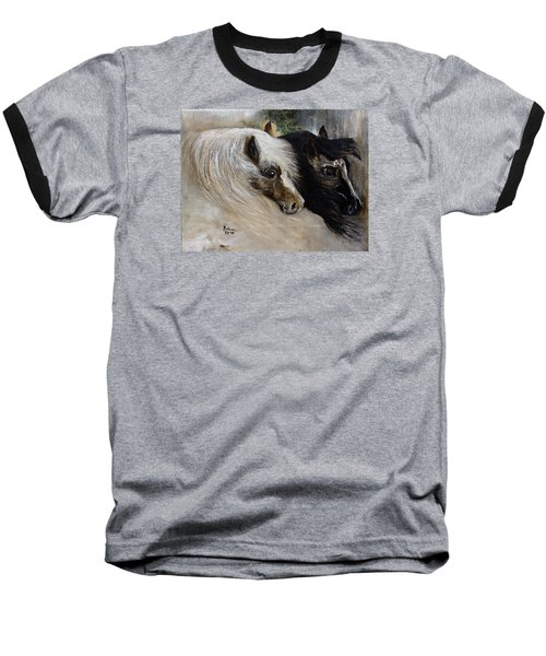 Baseball T-Shirt featuring the painting Brothers by Barbie Batson