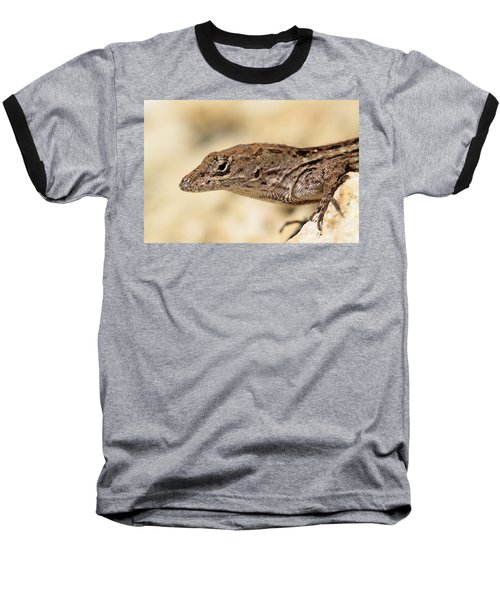 Baseball T-Shirt featuring the photograph Brown Anole by Doris Potter