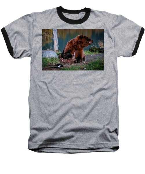 Brown Bear And Magpie Baseball T-Shirt