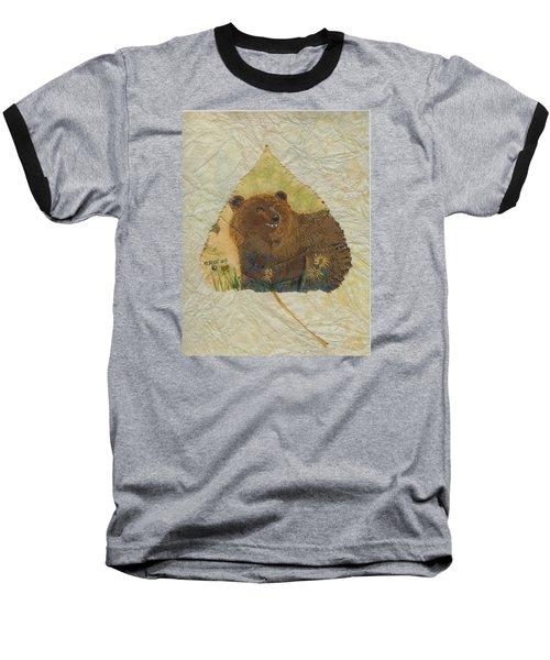 Brown Bear Baseball T-Shirt by Ralph Root