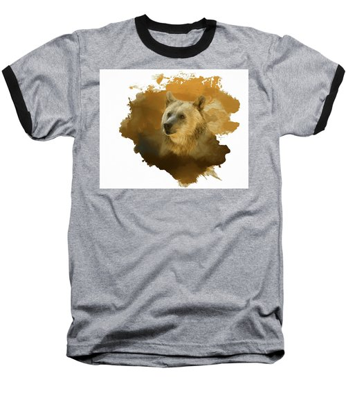 Baseball T-Shirt featuring the painting Brown Bear by Steven Richardson