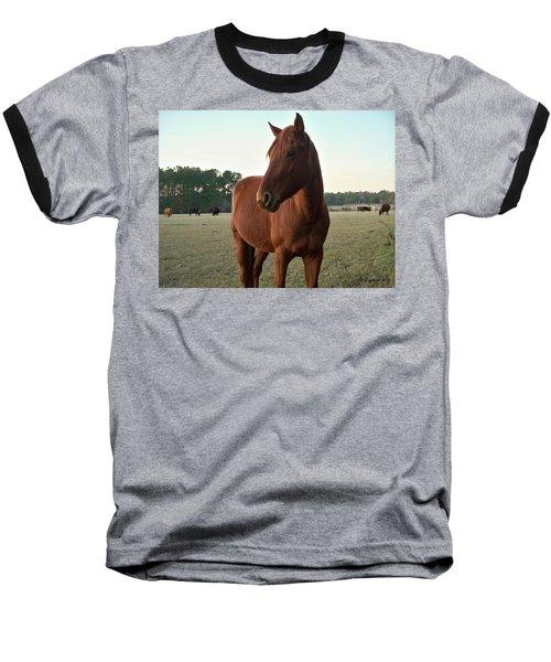 Baseball T-Shirt featuring the photograph Brown Beauty by Betty Northcutt