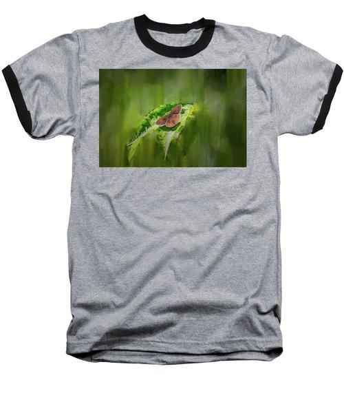 Brown Butterfly #h6 Baseball T-Shirt