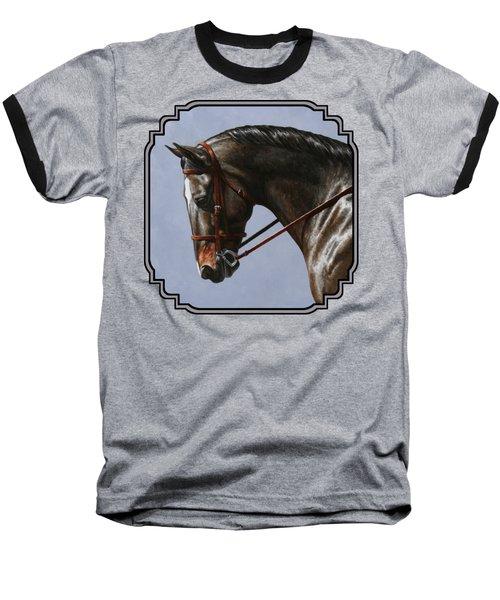 Brown Dressage Horse Phone Case Baseball T-Shirt