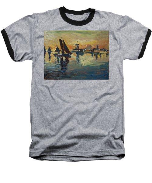 Brown Fleet On The Zaan Baseball T-Shirt