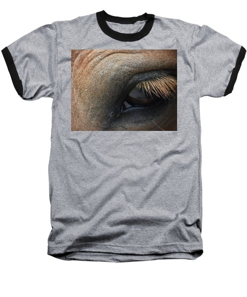 Brown Horse Eye Baseball T-Shirt