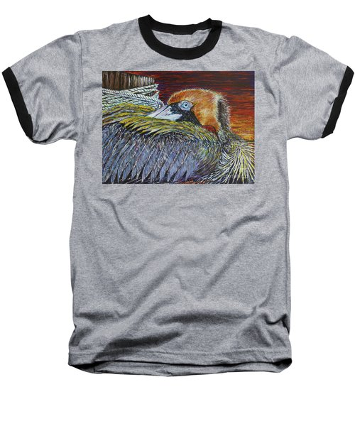 Brown Pelican Baseball T-Shirt