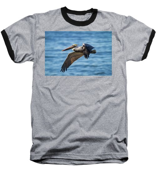 Brown Pelican In Flight Baseball T-Shirt