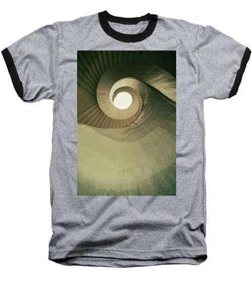 Baseball T-Shirt featuring the photograph Brown Spiral Stairs by Jaroslaw Blaminsky