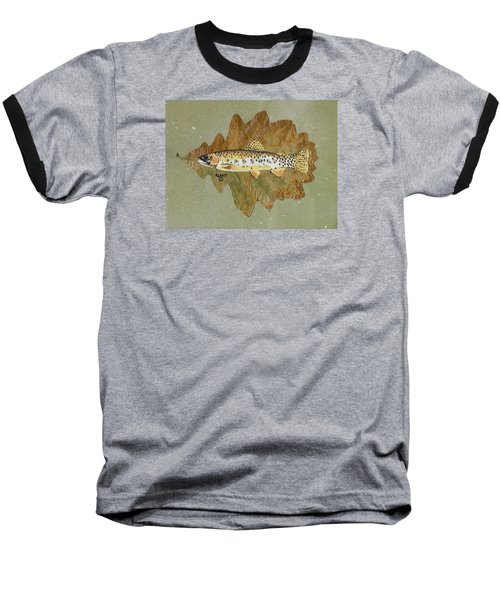 Brown Trout Baseball T-Shirt by Ralph Root