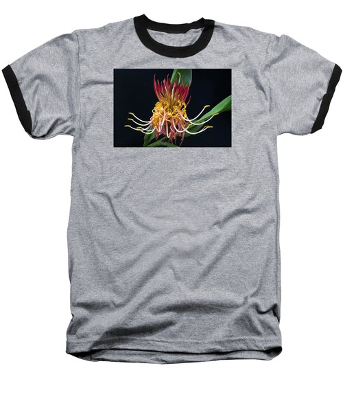 Brownea Macrophylla Tropical Flower Baseball T-Shirt