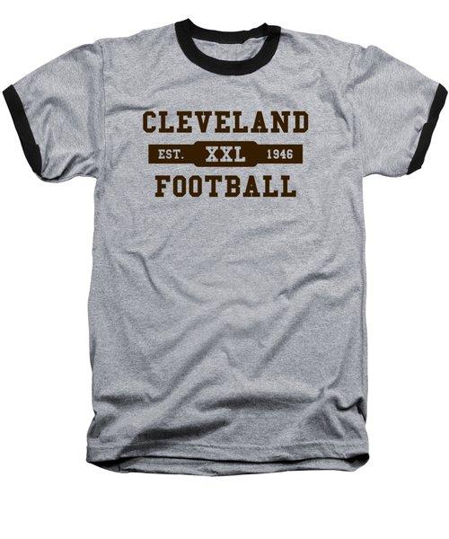 Browns Retro Shirt Baseball T-Shirt by Joe Hamilton
