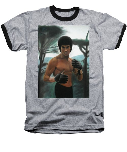 Bruce Lee - The Concentration  Baseball T-Shirt