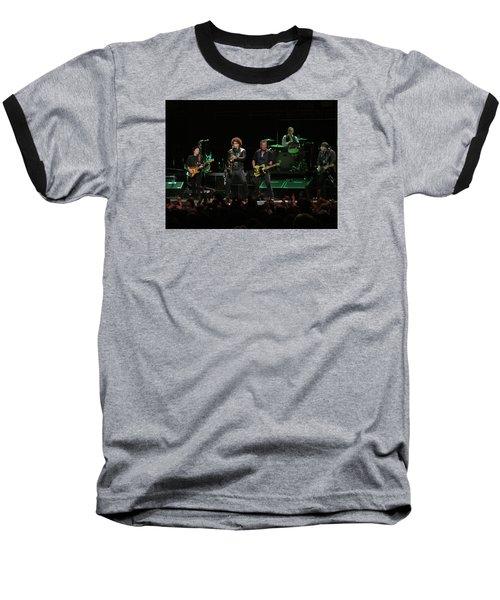 Bruce Springsteen And The E Street Band Baseball T-Shirt by Melinda Saminski