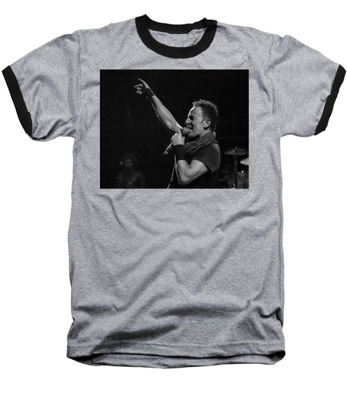 Bruce Springsteen In Cleveland Baseball T-Shirt