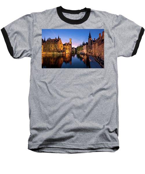 Bruges Canals At Blue Hour Baseball T-Shirt