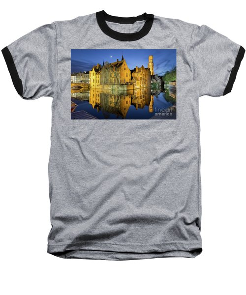 Brugge Twilight Baseball T-Shirt by JR Photography
