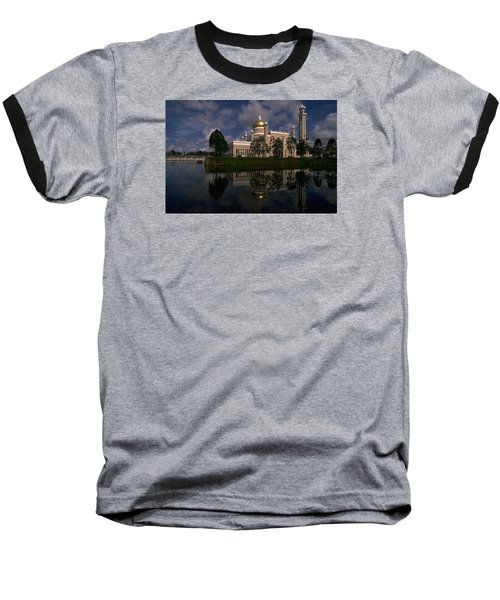 Brunei Mosque Baseball T-Shirt by Travel Pics