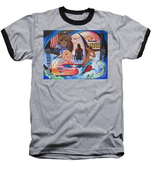 Blaa Kattproduksjoner     Two  Godessess Enjoying  The Nile Spa Baseball T-Shirt