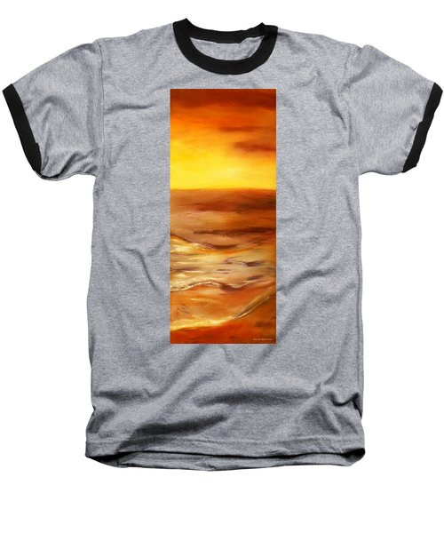 Brushed 5 - Vertical Sunset Baseball T-Shirt