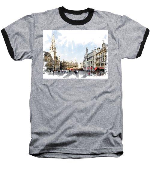 Brussels Grote Markt  Baseball T-Shirt