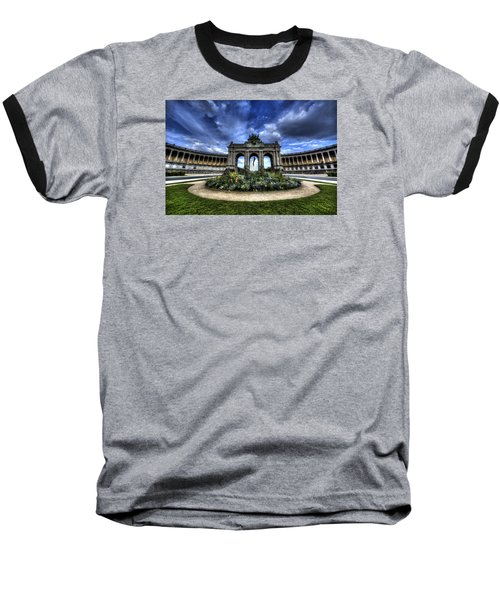 Baseball T-Shirt featuring the photograph Brussels Parc Du Cinquantenaire by Shawn Everhart