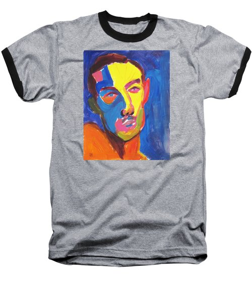 Baseball T-Shirt featuring the painting Bryan Portrait by Shungaboy X