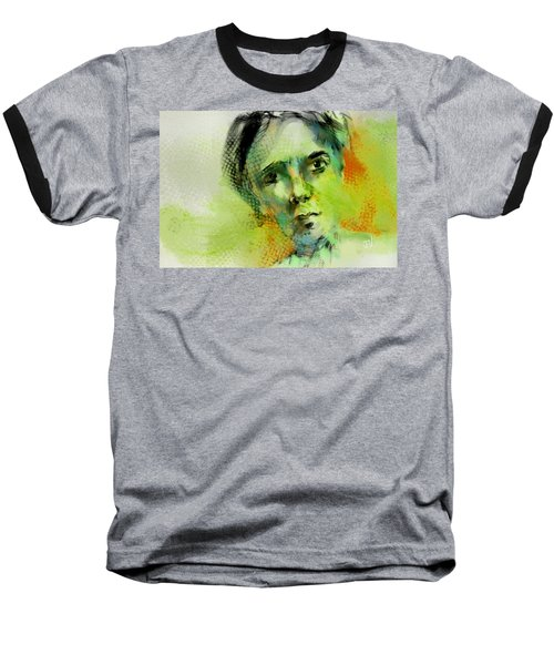 Baseball T-Shirt featuring the painting Bryant by Jim Vance